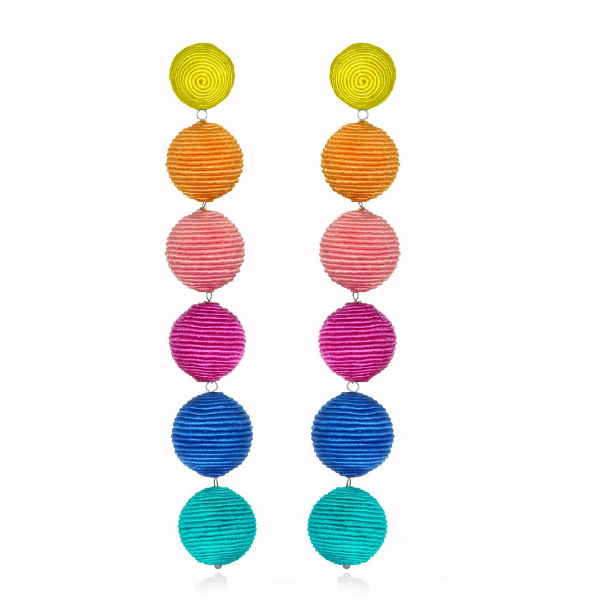 Rainbow Gumball Earrings by SUZANNA DAI