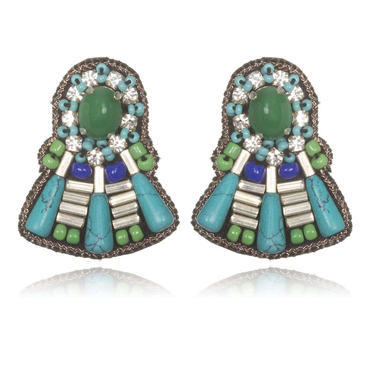 Rajasthan Fan Earrings by SUZANNA DAI
