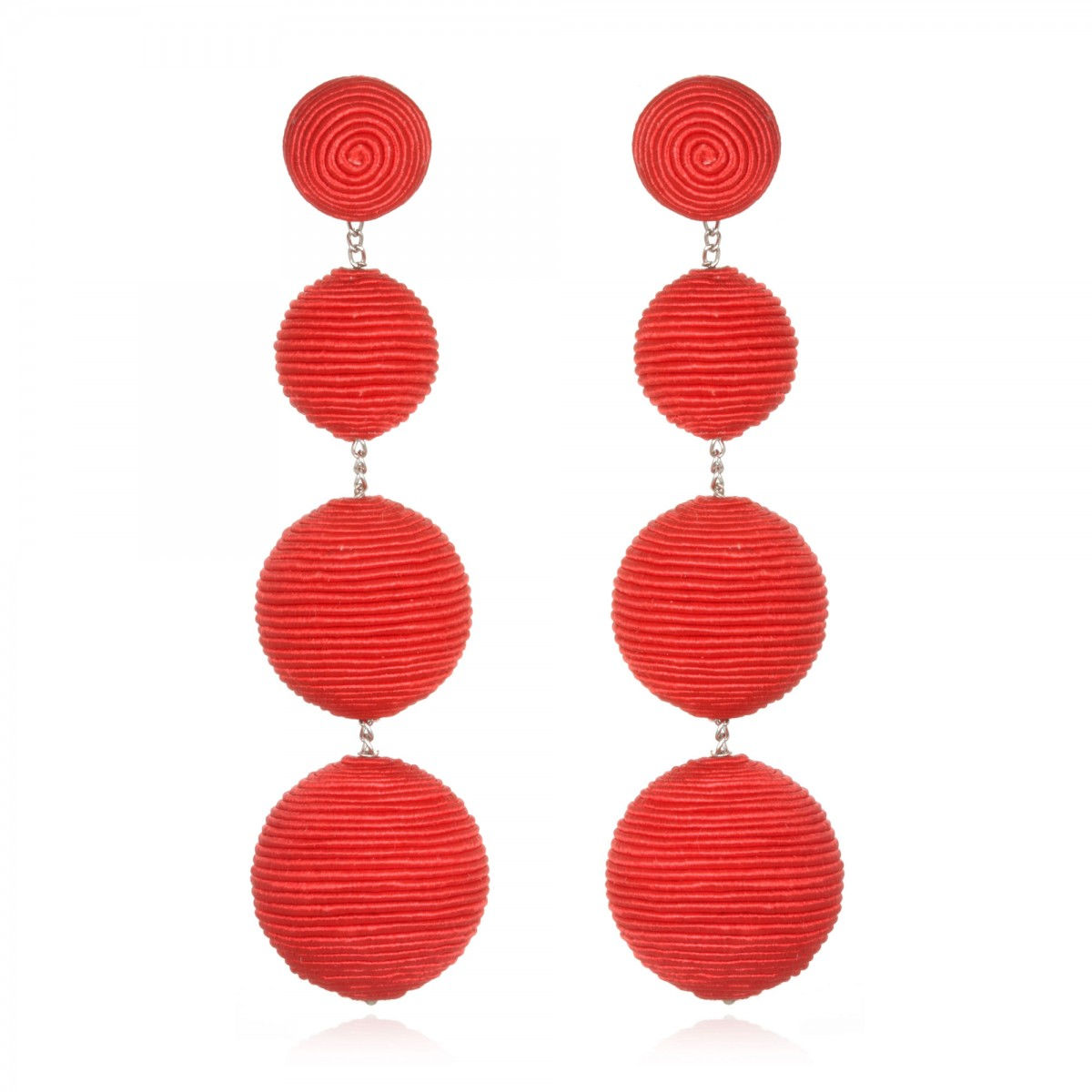 Red Gumball Bon Bon Earrings by SUZANNA DAI