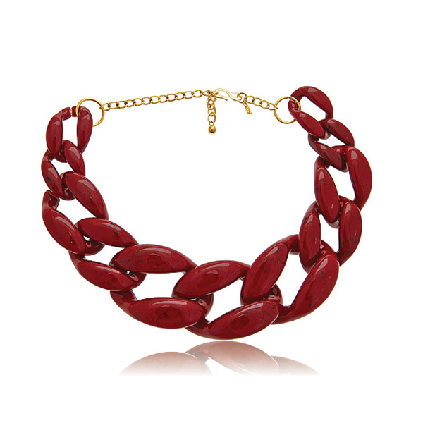 Red Link Necklace by KENNETH JAY LANE