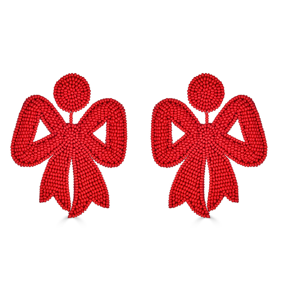 Retro Red Bow Earrings by FRENCH AND FORD