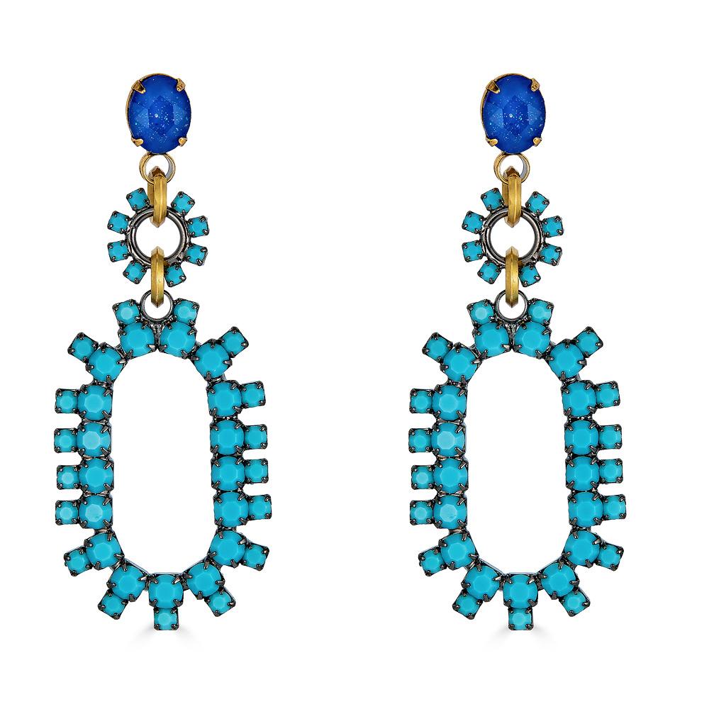 Rhiannon Turquoise Earrings by ELIZABETH COLE