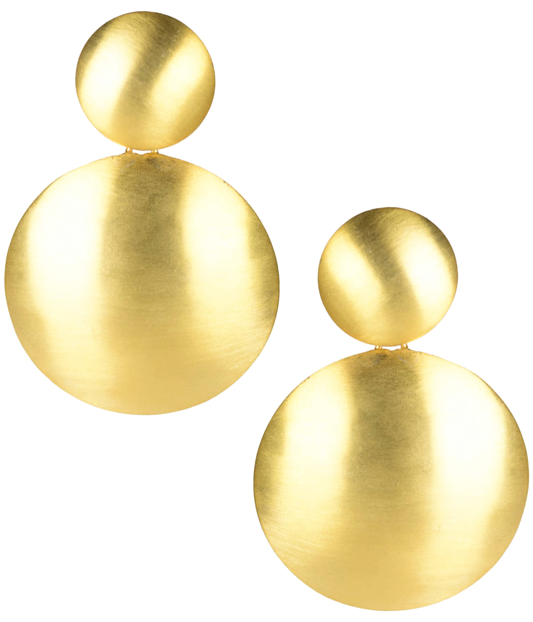 Robin Brushed Gold Earrings