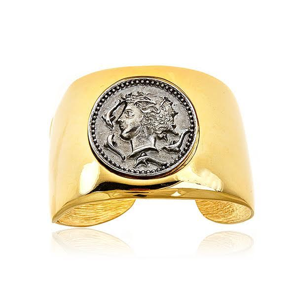 Greek Coin Cuff Bracelet by KENNETH JAY LANE