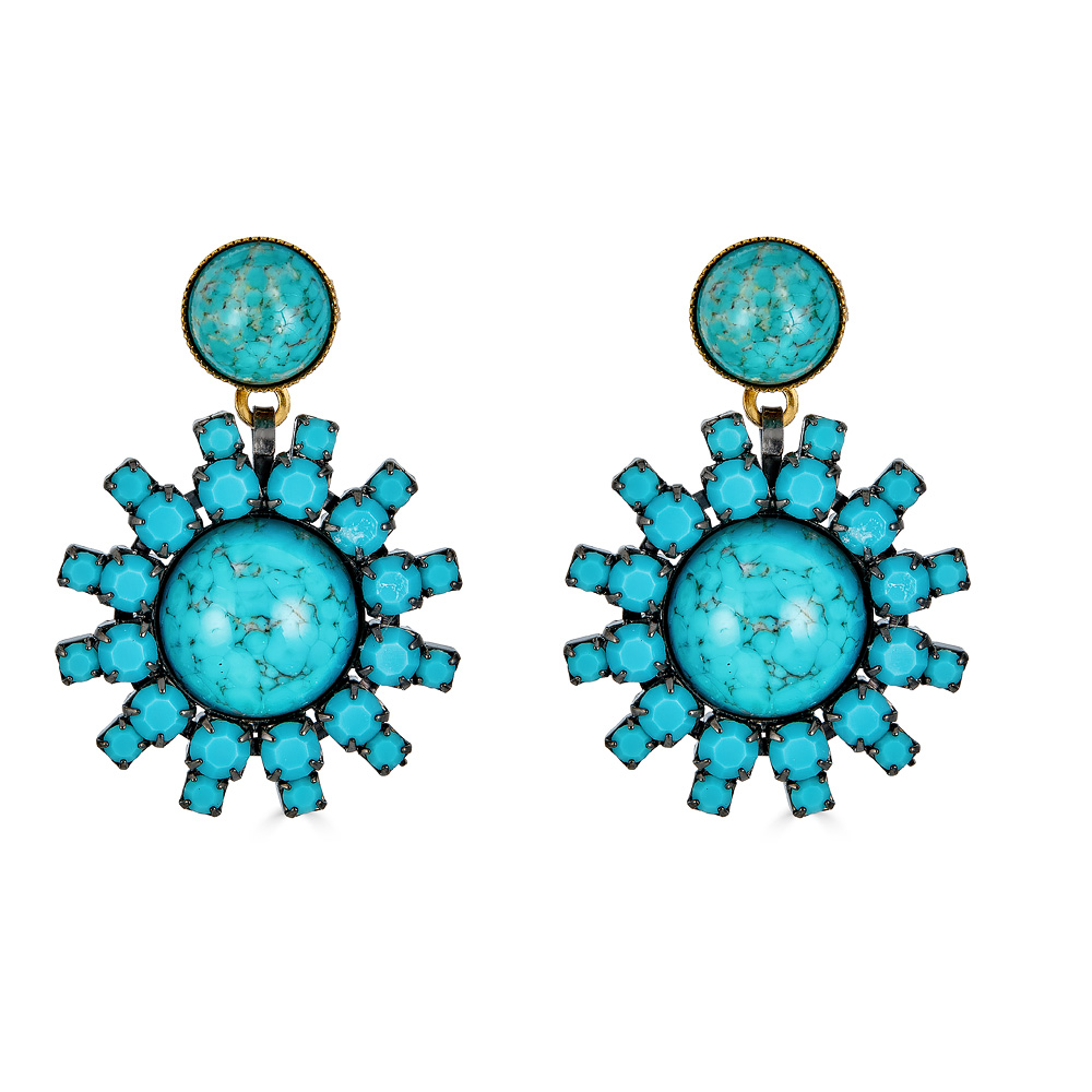 Roscoe Turquoise Earrings by ELIZABETH COLE