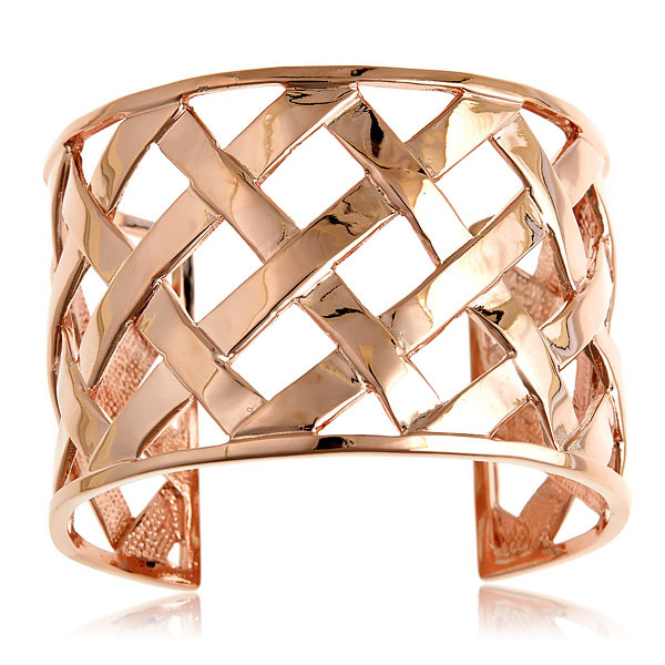 Rose Basket Weave Cuff by KENNETH JAY LANE