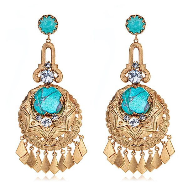 Rosenta Turquoise Earrings by ELIZABETH COLE