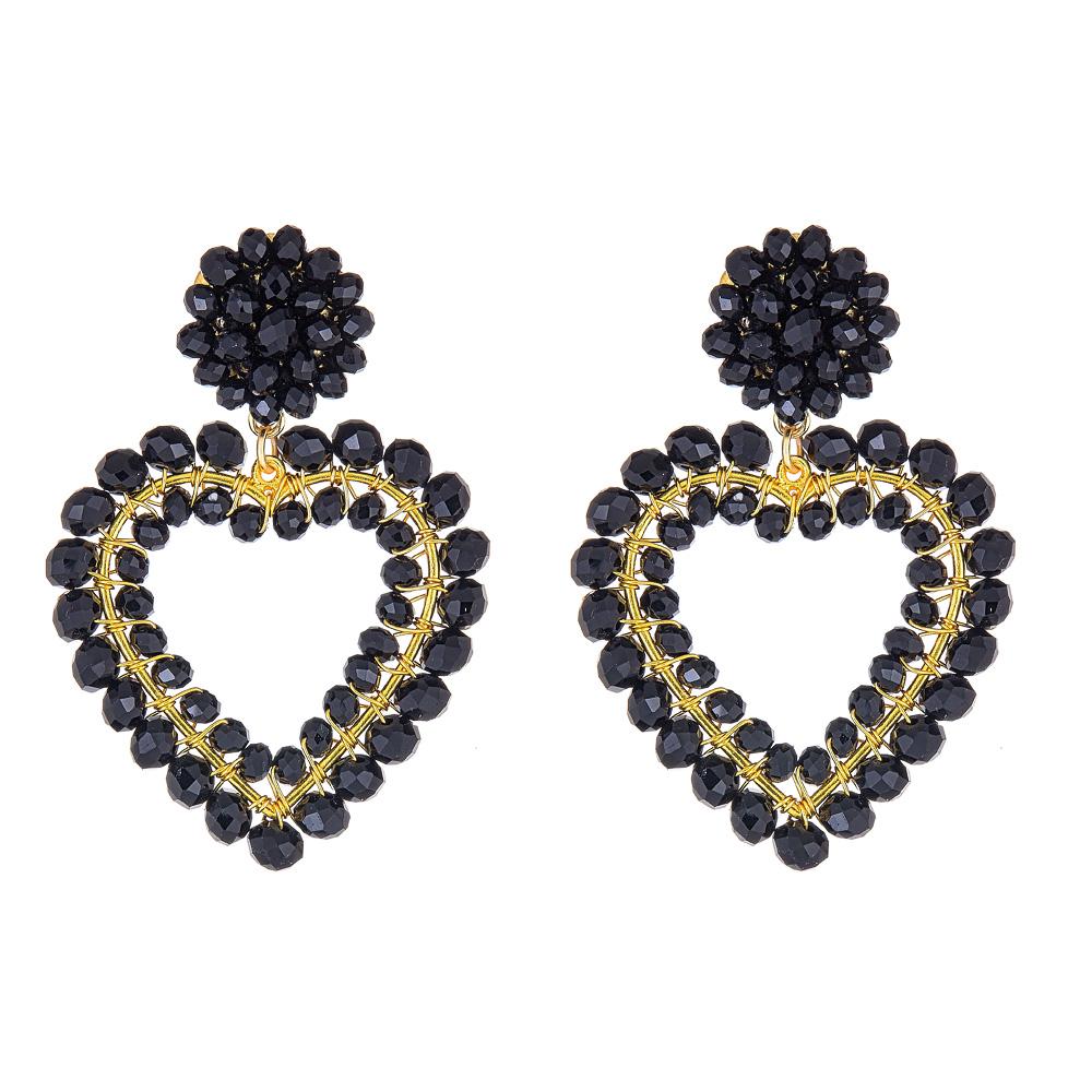 Roxy Black Heart Earrings by LISI LERCH