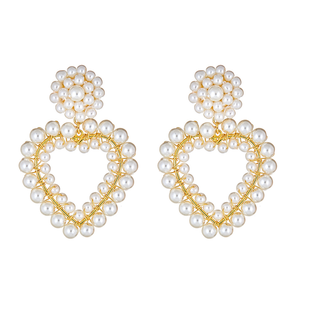 Roxy Heart Pearl Earrings by LISI LERCH