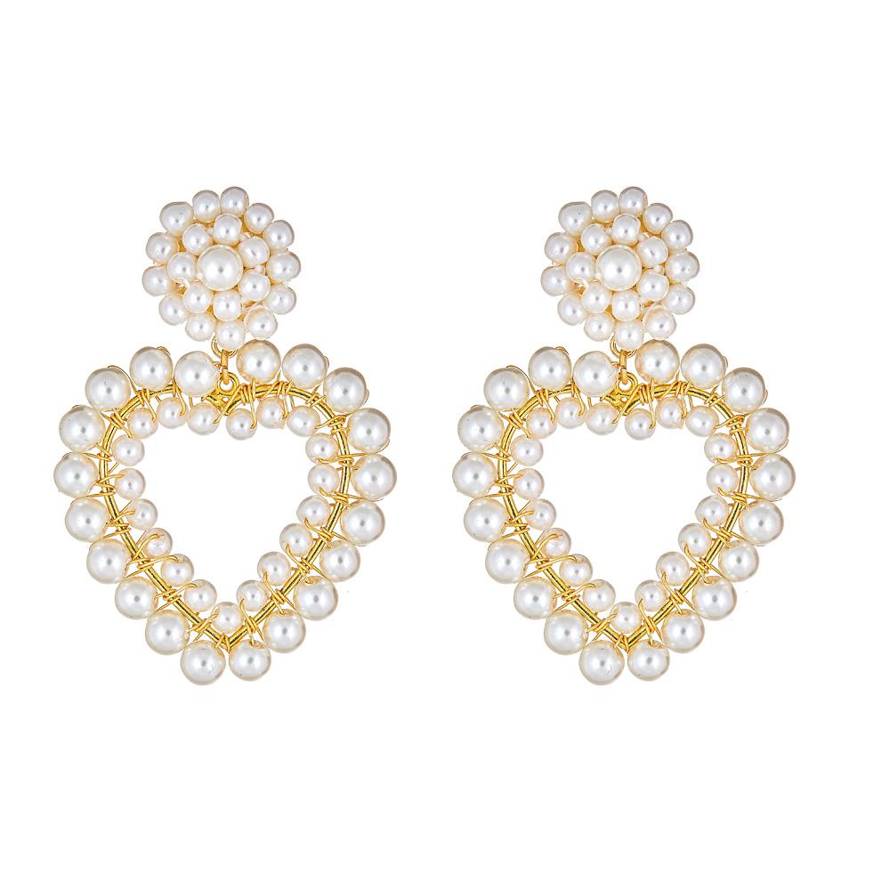 Roxy Heart Pearl Earrings by LISI LERCH