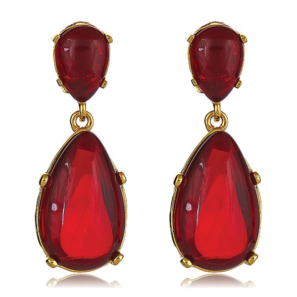 Ruby Cab Earrings by KENNETH JAY LANE