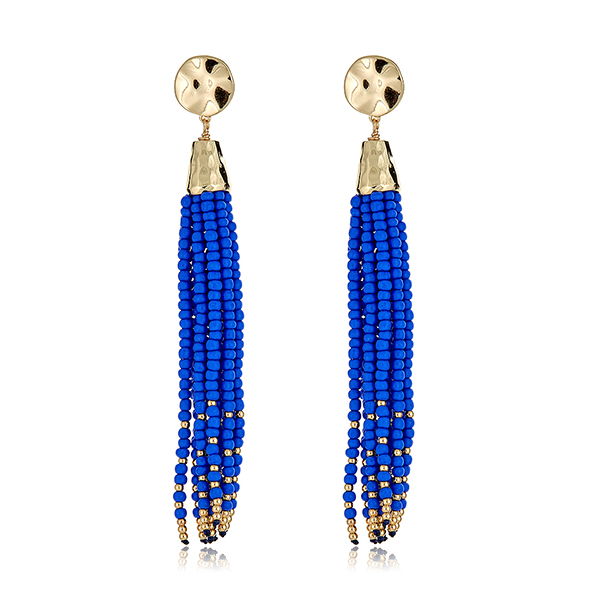 Salina Indigo Tassel Earrings by GORJANA