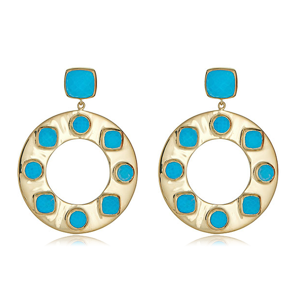 Santorini Turquoise Earrings by JULIE AYLWARD