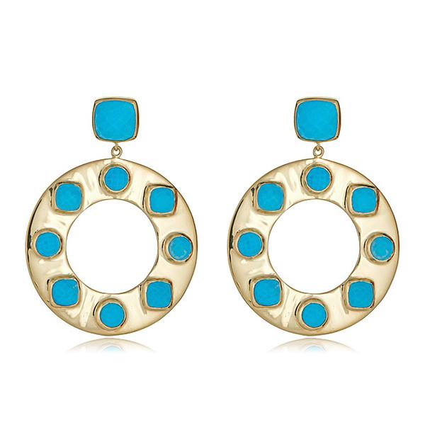 Santorini Turquoise Earrings by JULIE AYLWARD