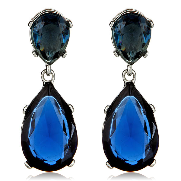 Sapphire Drop Earrings by KENNETH JAY LANE