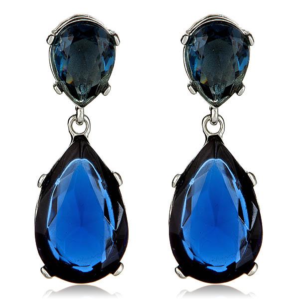 Sapphire Drop Earrings by Kenneth Jay Lane