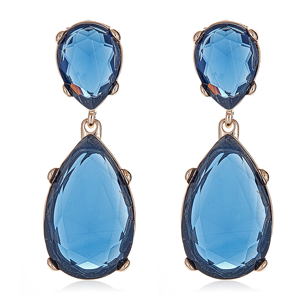Sapphire Gold Drop Earrings by KENNETH JAY LANE