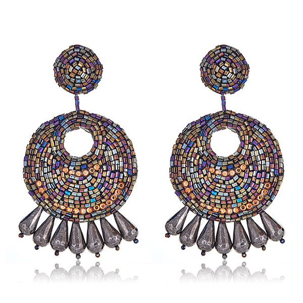 Iridescent Gypsy Earrings by KENNETH JAY LANE