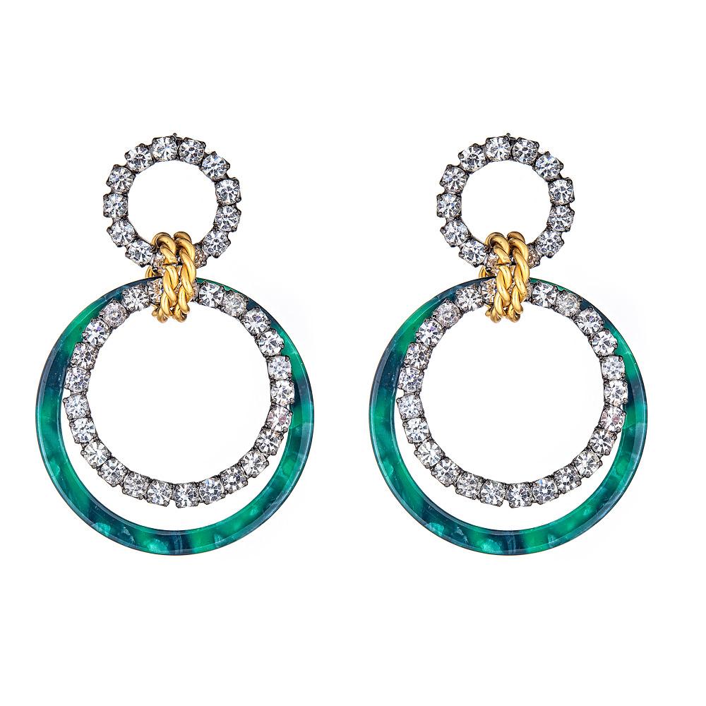 Scarlet Malachite Earrings by ELIZABETH COLE