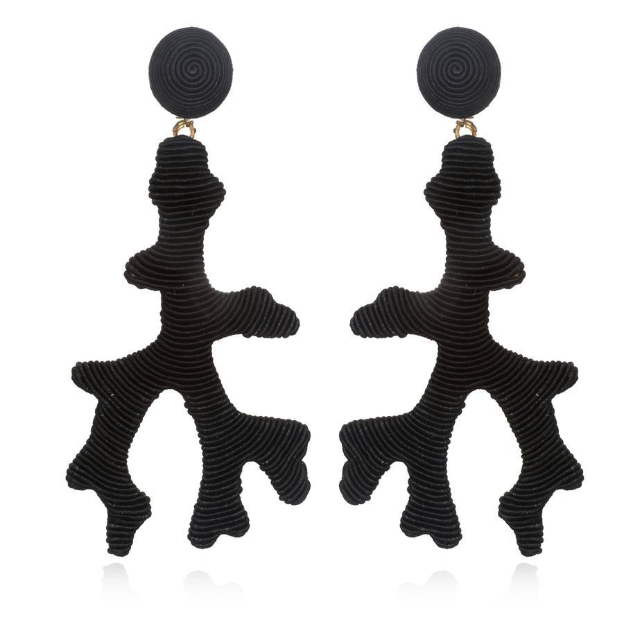 Seychelles Black Earrings by SUZANNA DAI