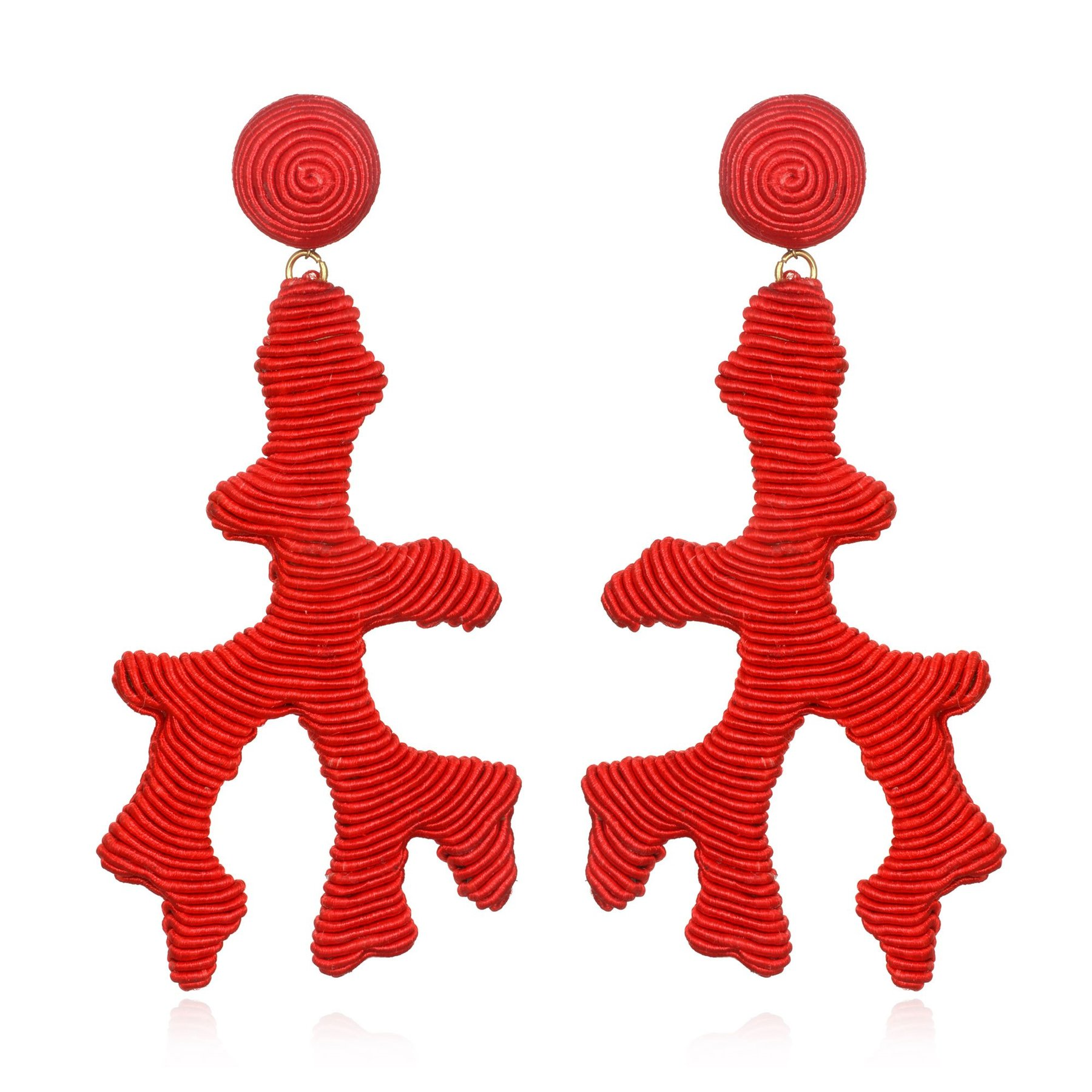 Seychelles Coral Earrings by SUZANNA DAI