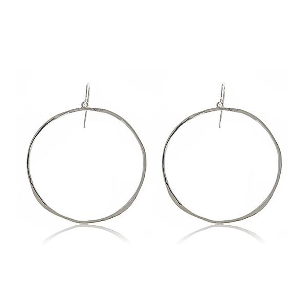 Silver G-Hoop Earrings by GORJANA