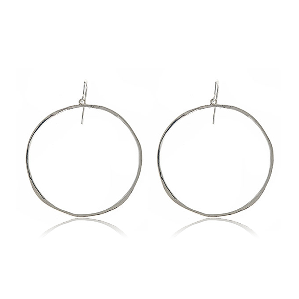 Silver G-Hoop Earrings by Gorjana
