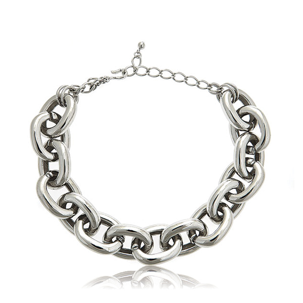 Silver Link Necklace by KENNETH JAY LANE