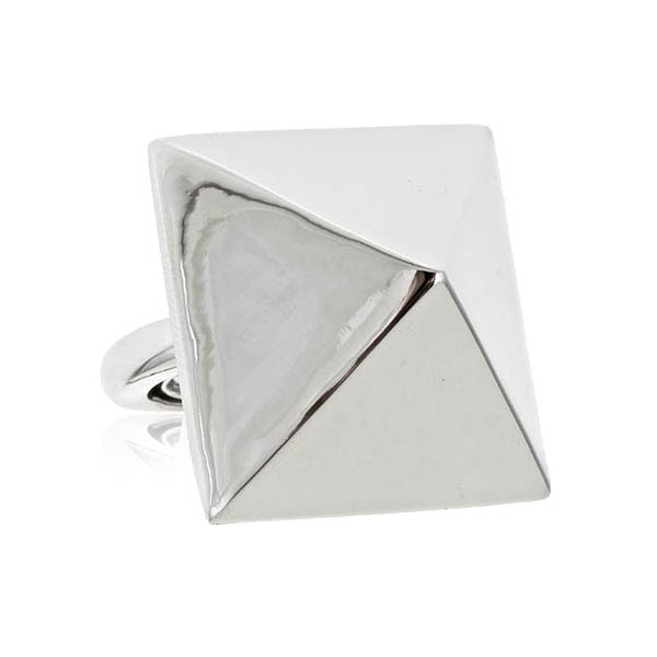 Silver Spike Pyramid Ring by Kenneth Jay Lane