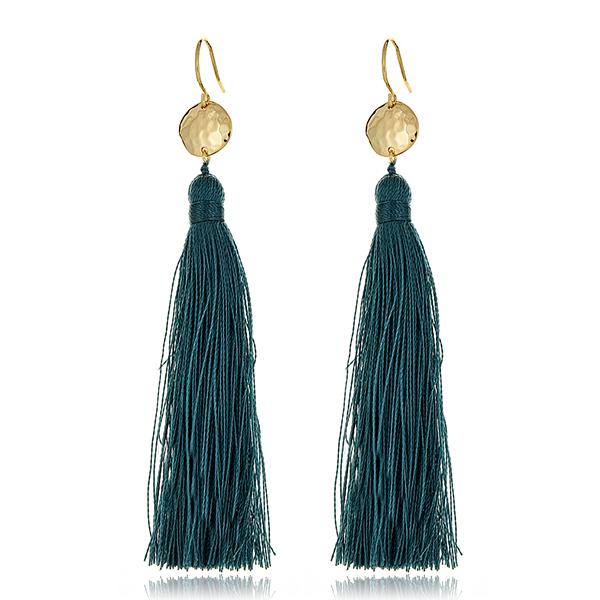 Slate Tassel Earrings by GORJANA