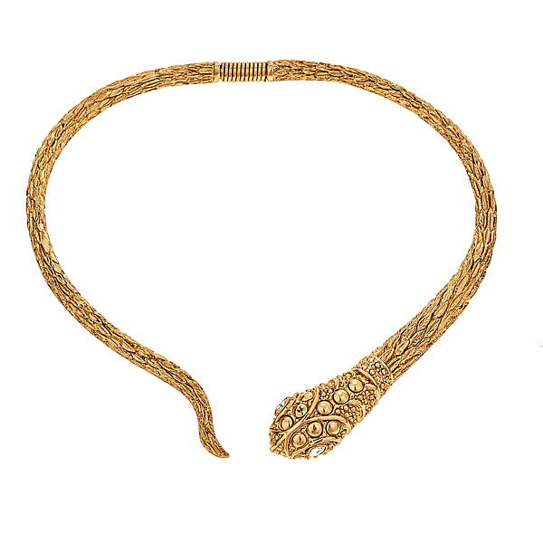 Snake Collar Necklace by KENNETH JAY LANE