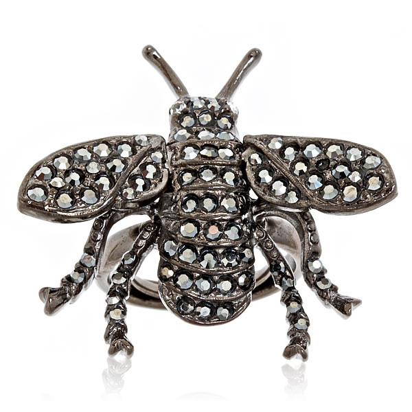 Social Buzz Bee Ring by Kenneth Jay Lane