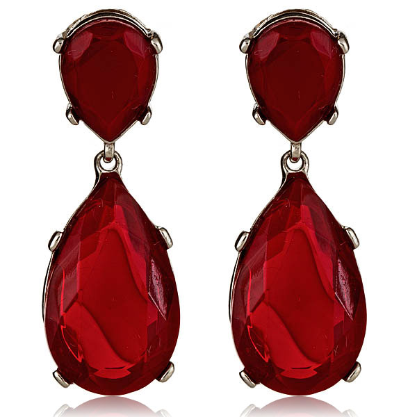 Socialites Ruby Red Earrings by KENNETH JAY LANE