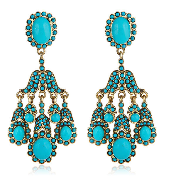 Socialite Turquoise Earrings by KENNETH JAY LANE