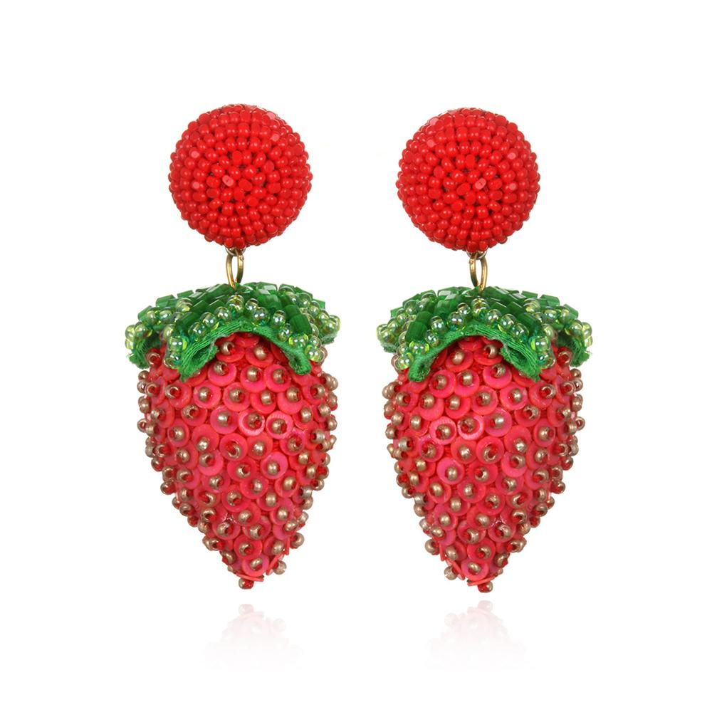 Strawberry Earrings by SUZANNA DAI