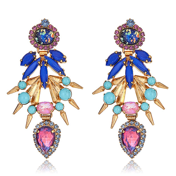 Strieker Confetti Blue Earrings by ELIZABETH COLE