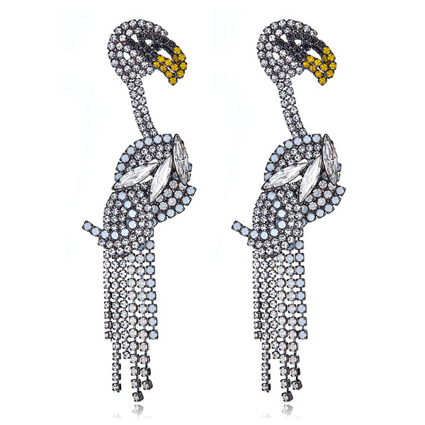 Svenja Social Swans Earrings by ELIZABETH COLE
