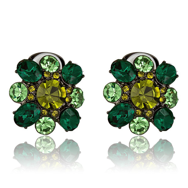 Swarovski Emerald Earrings by KENNETH JAY LANE