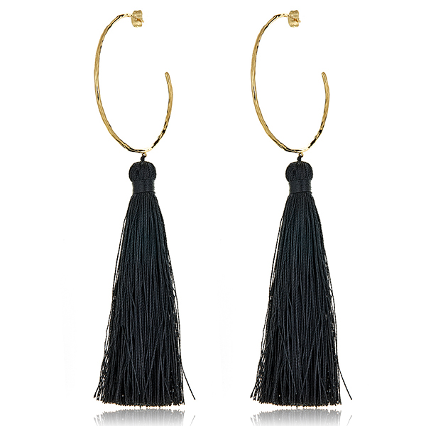 Tassel Hoop Earrings by GORJANA