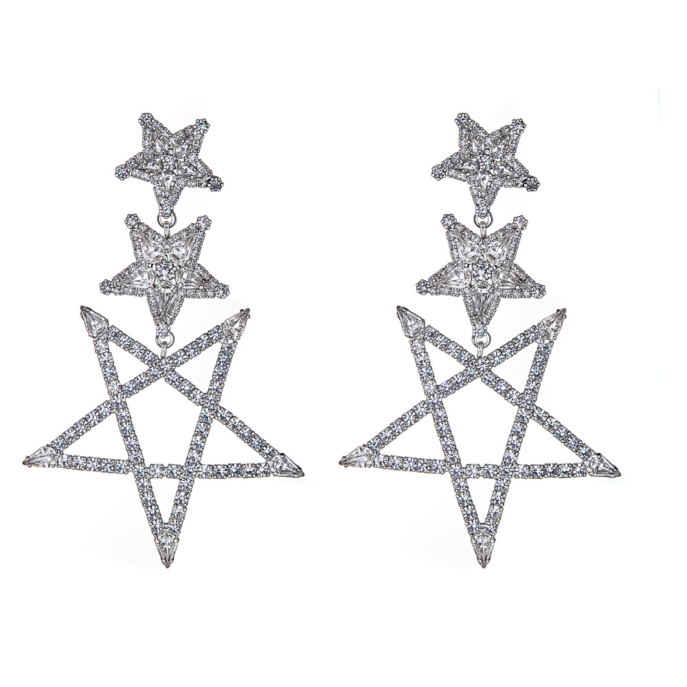 Tate Star Earrings by ELIZABETH COLE