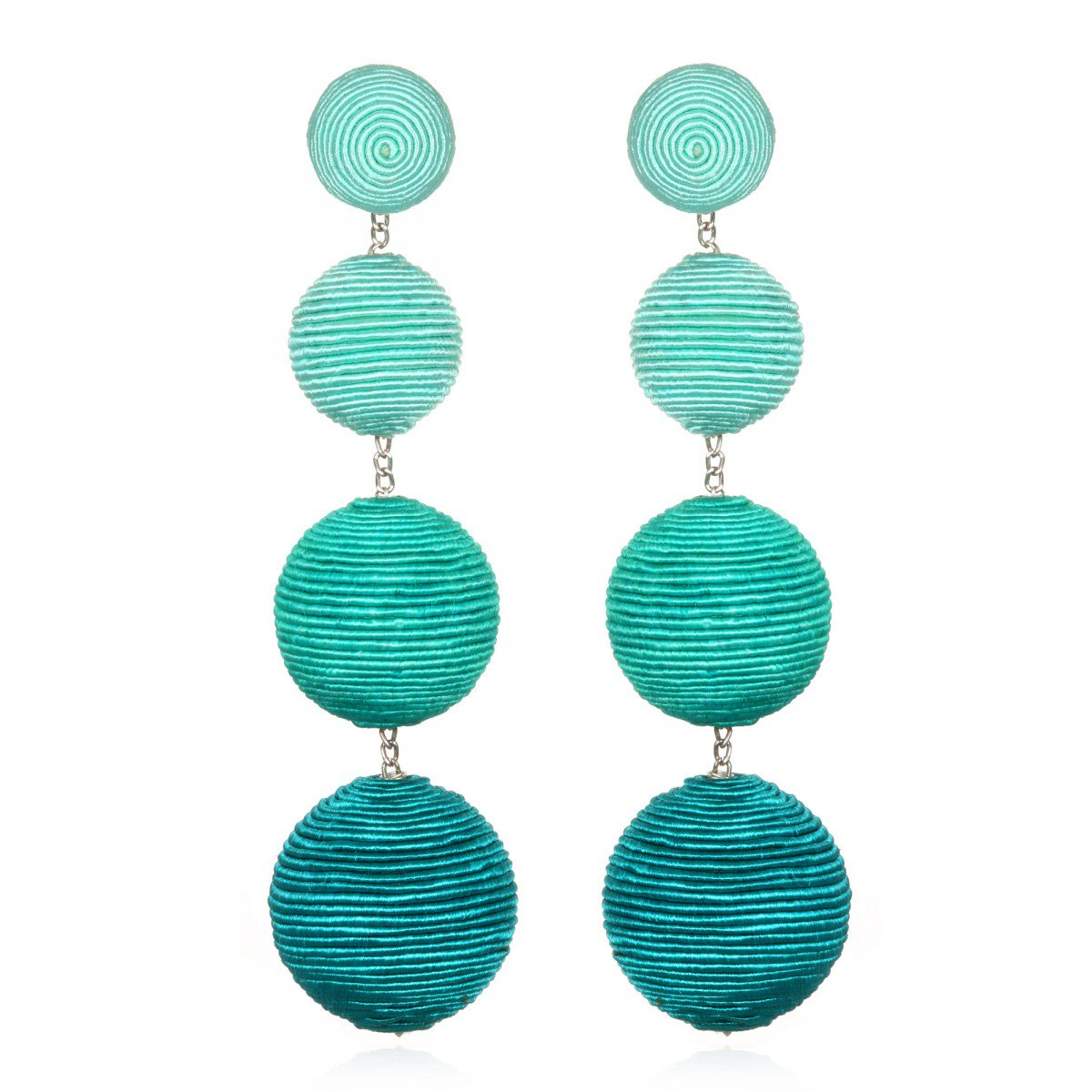Teal Ombre Gumball Earrings by SUZANNA DAI