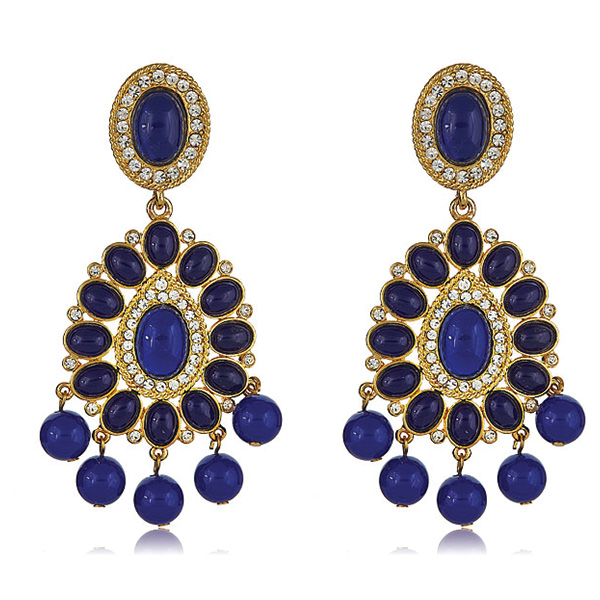 Lapis Blue Chandelier Earrings by Kenneth Jay Lane