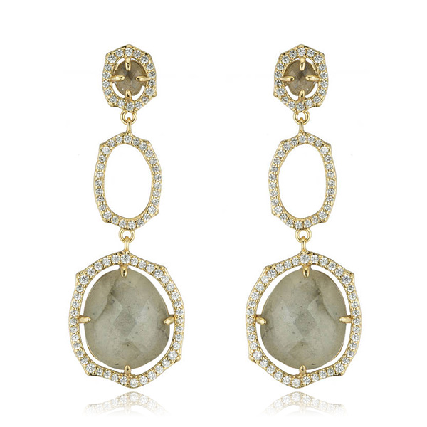 Oval Labradorite Earrings by MARCIA MORAN