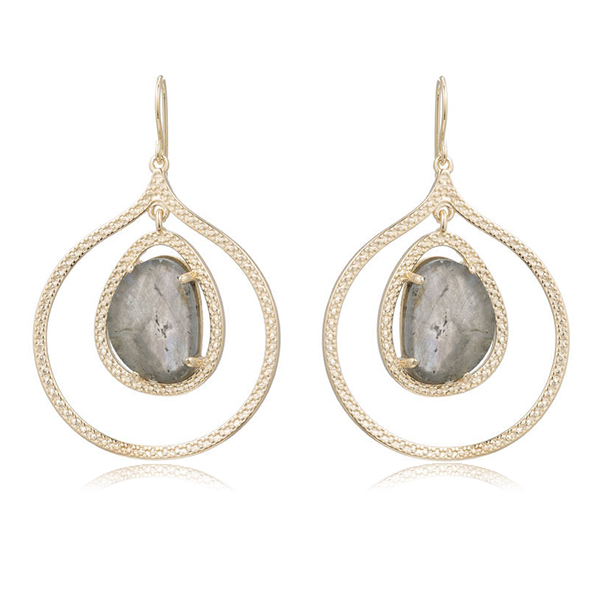 Organic Labradorite Earrings by MARCIA MORAN