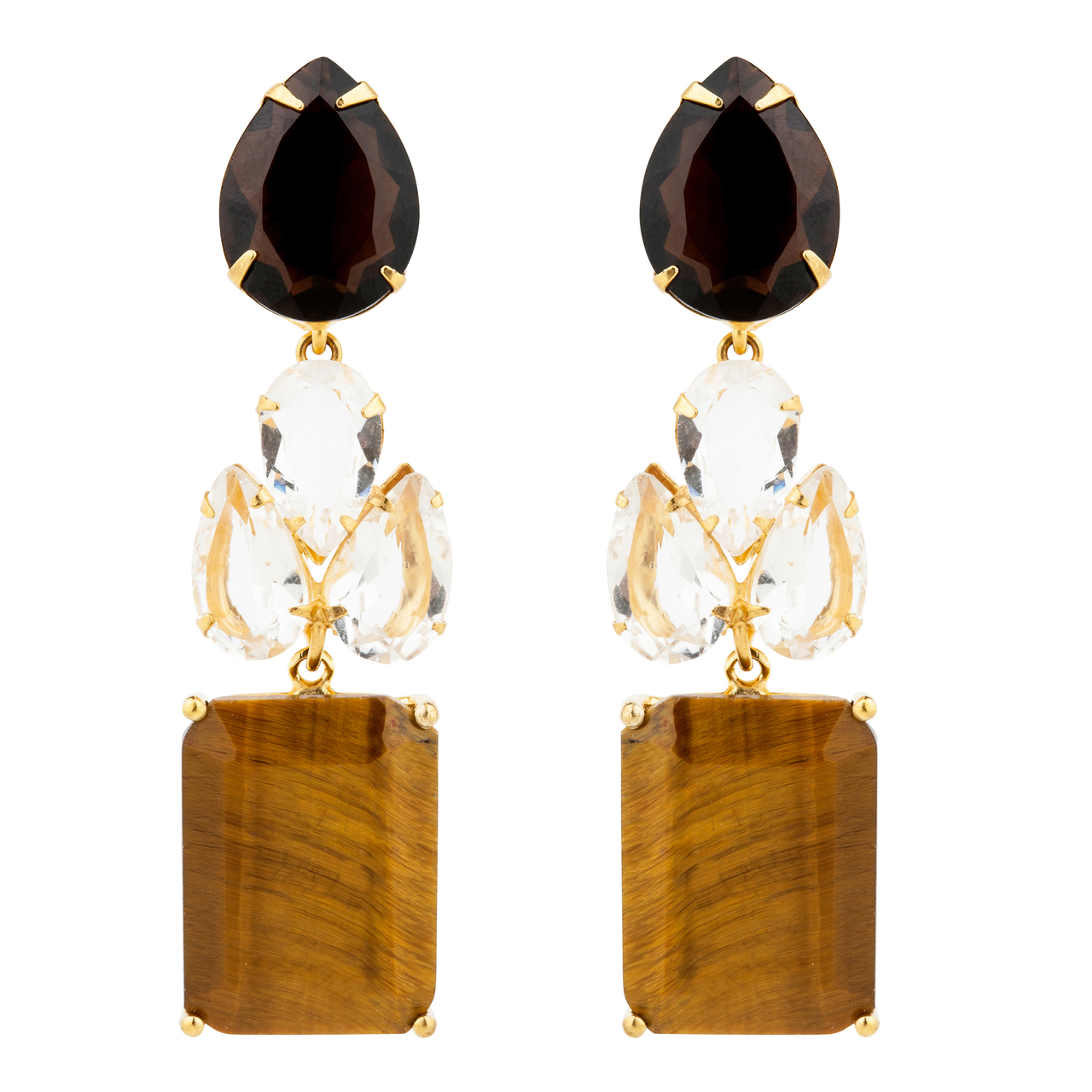 Tigers Eye Statement Earrings by BOUNKIT