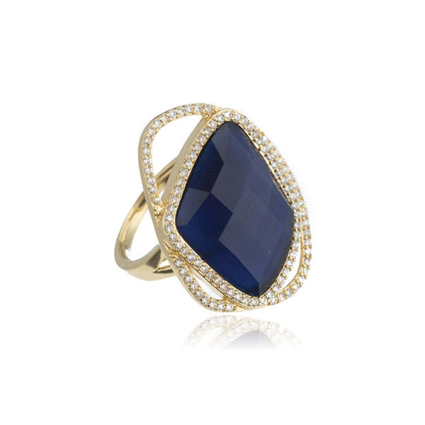 Blue Cat's Eye Ring by Marcia Moran