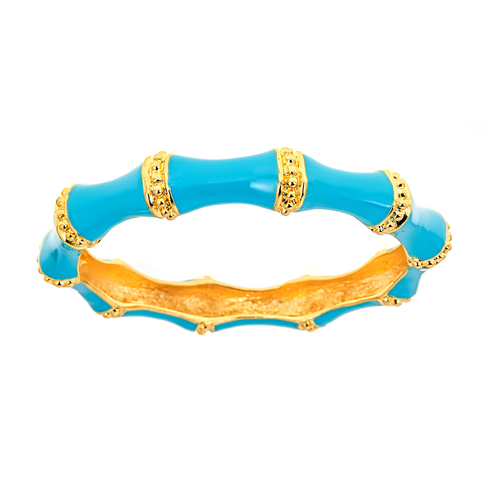 Turquoise Bamboo Bangle by KENNETH JAY LANE