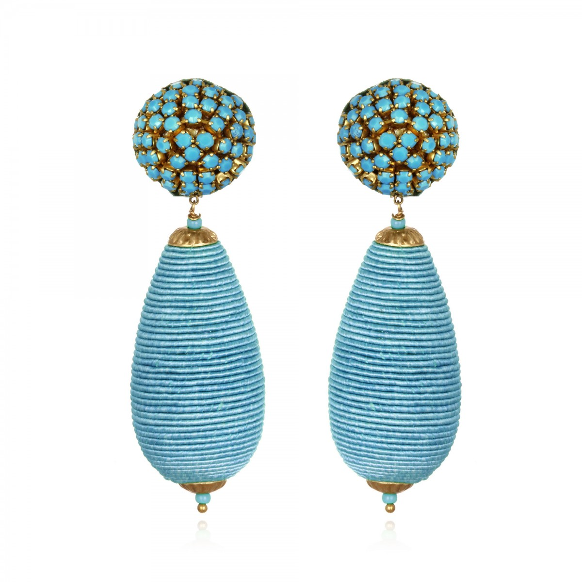 Turquoise Bat Drop Earrings by SUZANNA DAI