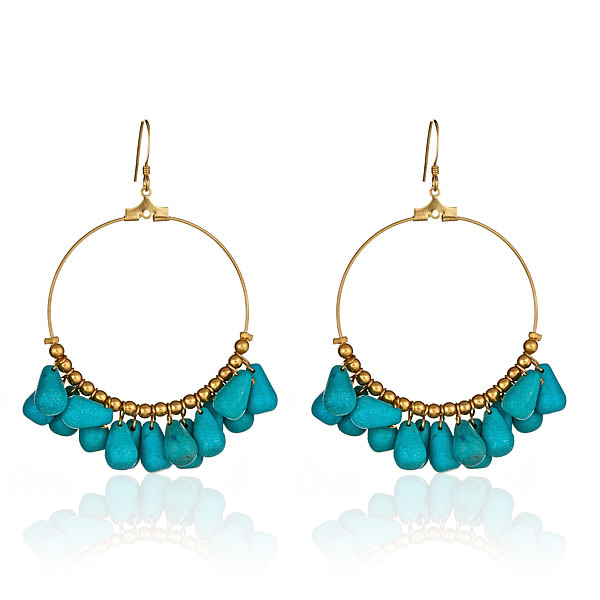 Turquoise Bead Earrings by KENNETH JAY LANE