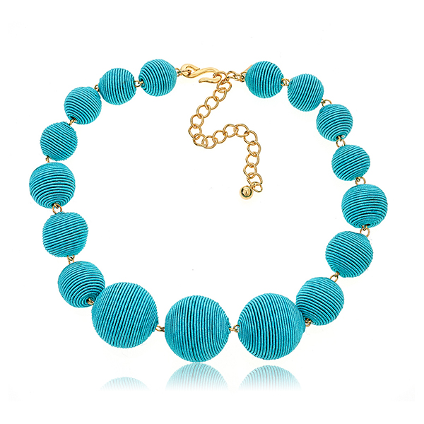 Turquoise Bon Bon Necklace  by KENNETH JAY LANE